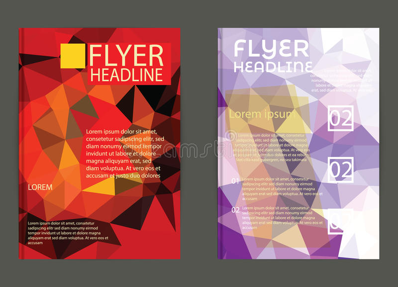 Abstract Triangle Geometric Vector Brochure Template. Flyer Layout. Flat Style. design for print,in A4 size stock illustration