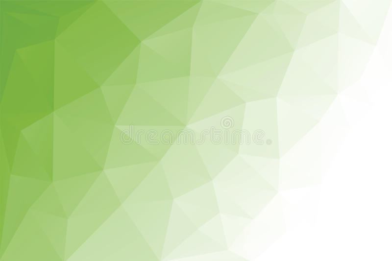 Abstract Triangle Geometrical Light Green Background, Vector Illustration. Polygonal design. stock illustration