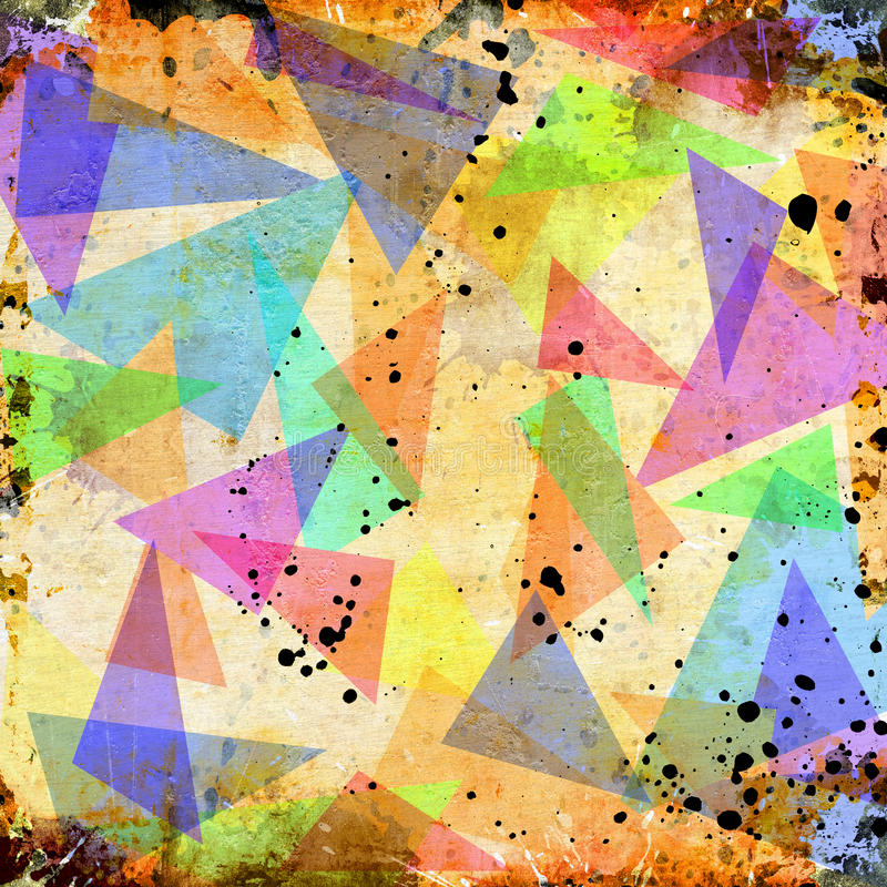 Abstract triangle grunge background vector illustration