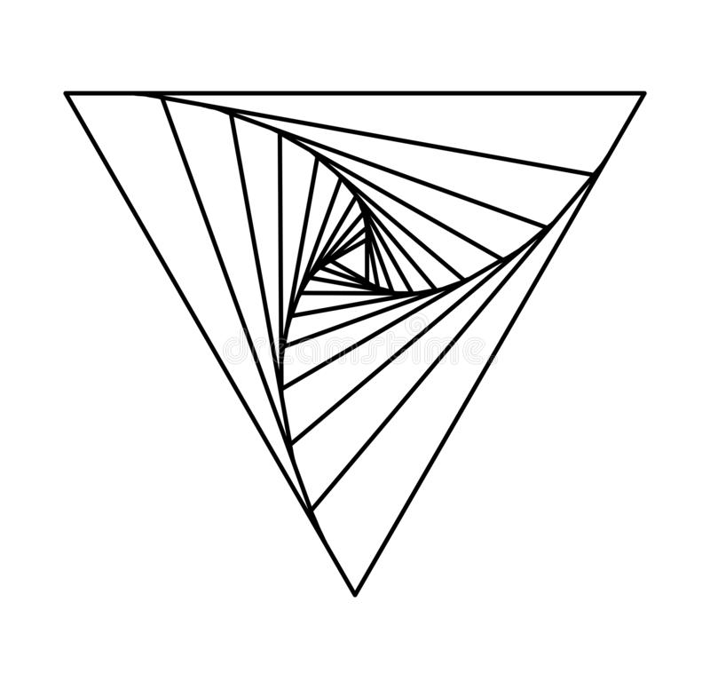 Abstract triangle lineart made of other triangles royalty free stock image