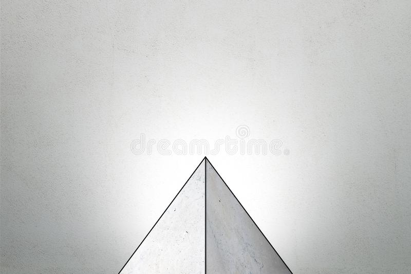 Abstract triangle pedestal royalty free illustration