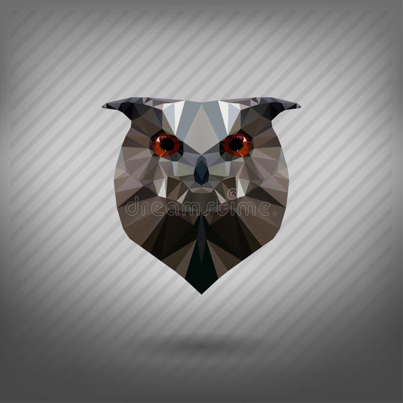Abstract triangle polygonal animal owl. Abstract triangle polygonal animal in the style of origami owl vector illustration