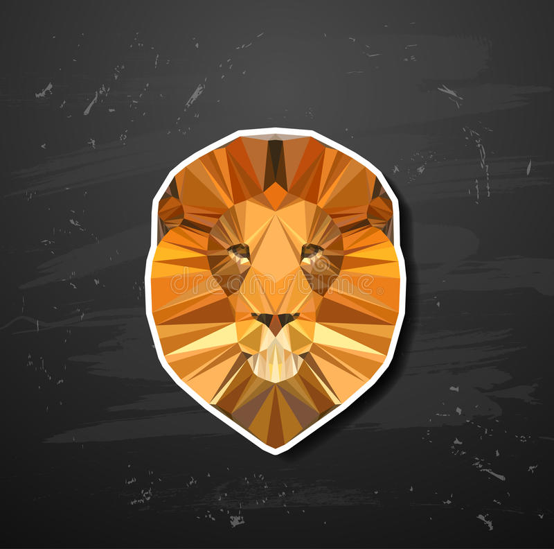 Abstract triangle polygonal animal. In the style of origami royalty free illustration