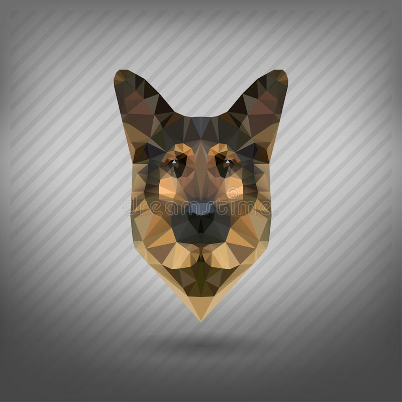 Abstract triangle polygonal animal. In the style of origami vector illustration