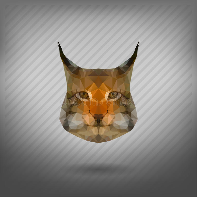 Abstract triangle polygonal animal. In the style of origami stock illustration