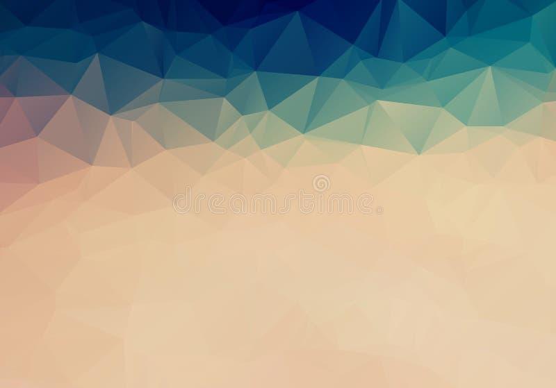 Abstract Triangle shape background pastel color. Abstract Dark brown triangle mosaic background. Creative geometric illustration royalty free illustration