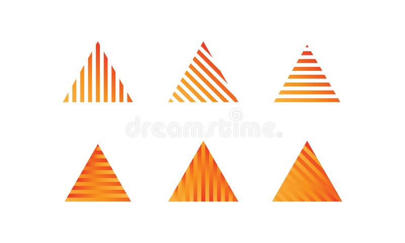 Abstract Triangle shape vector concept royalty free stock photo