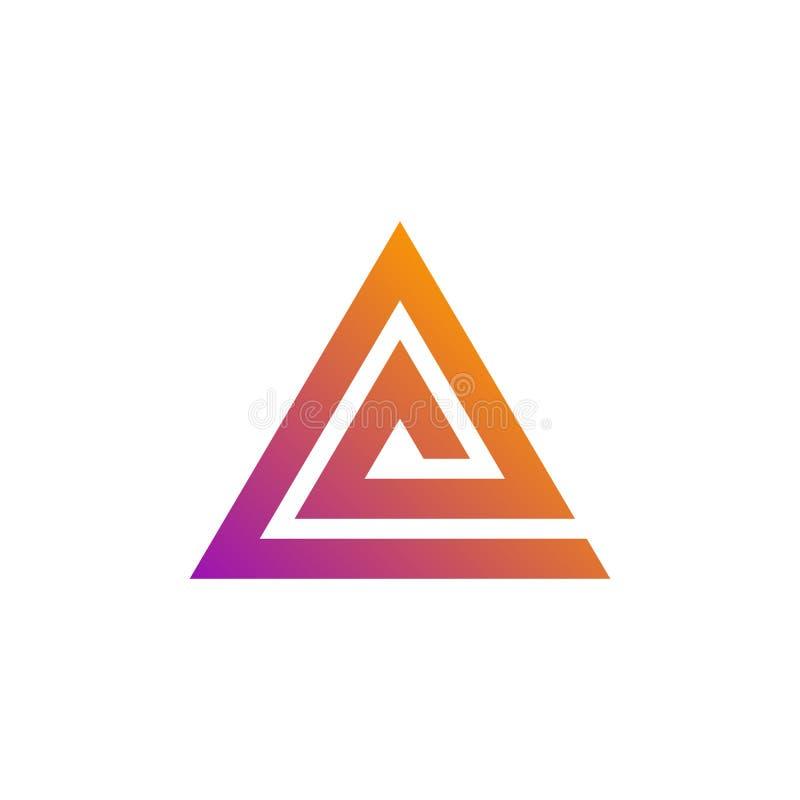 Abstract Triangle Spiral Logo Pyramid Symbol Stock Vector