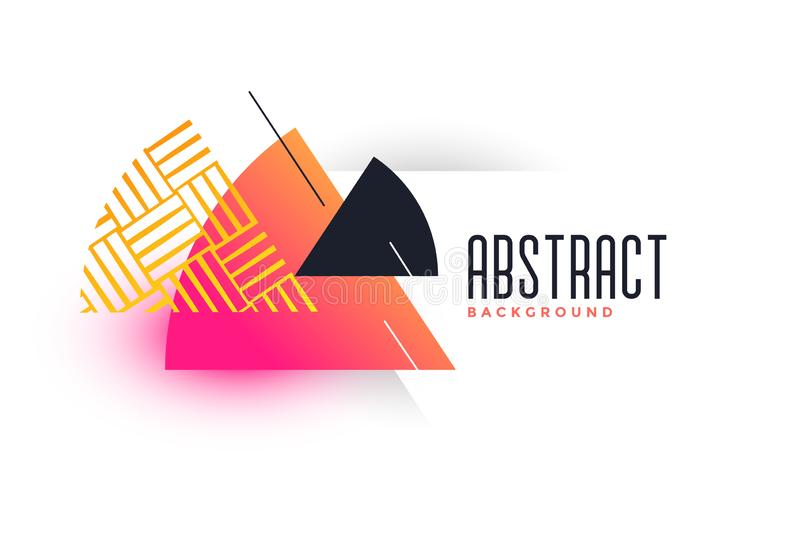 Abstract triangle vibrant banner template royalty free illustration