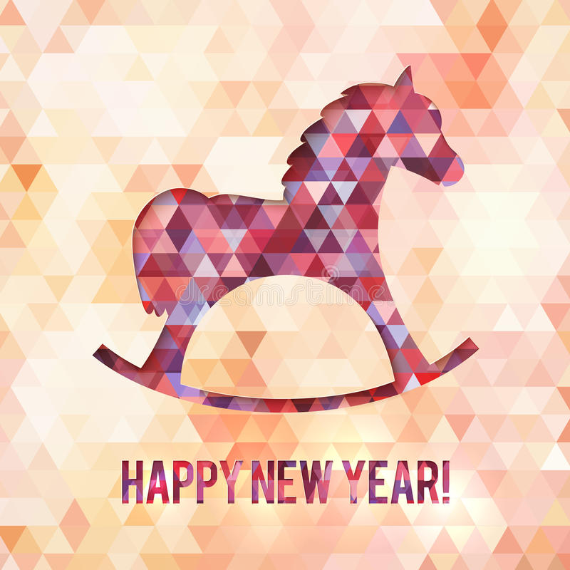 abstract triangles horse new year vector card stock photo image 34050120. Black Bedroom Furniture Sets. Home Design Ideas