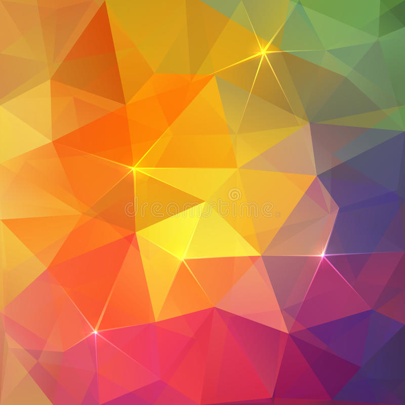 Abstract Triangles Ice Colorful Vector Background Stock