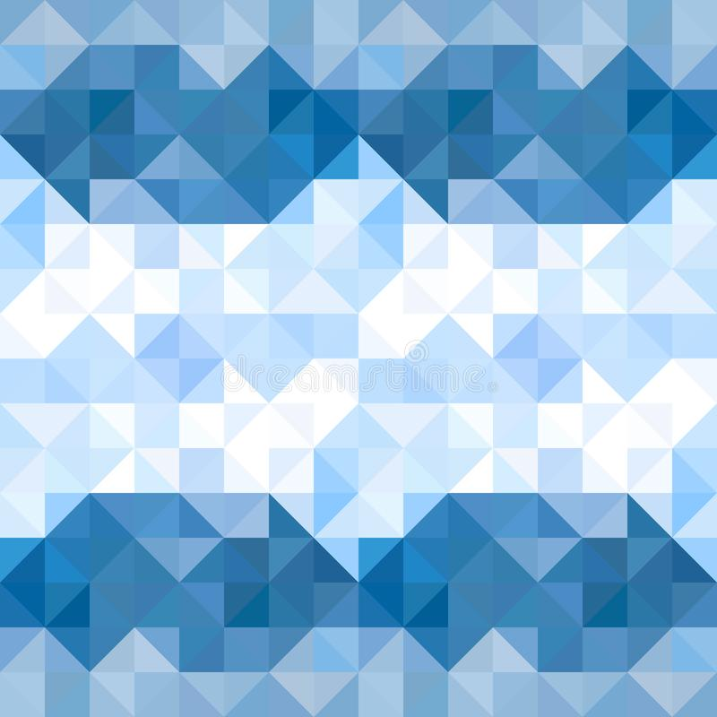 Abstract triangles pattern background. Water and Sky geometric b vector illustration