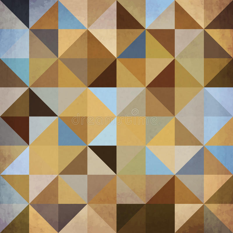 Abstract triangles vector brown background royalty free illustration