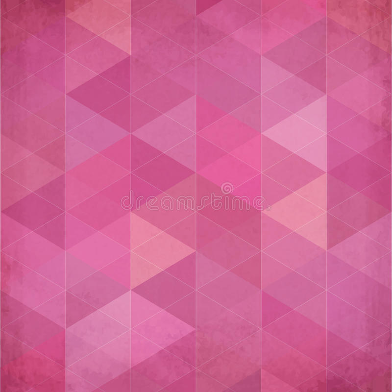 Abstract triangles vintage vector pink background. This is file of EPS10 format royalty free illustration