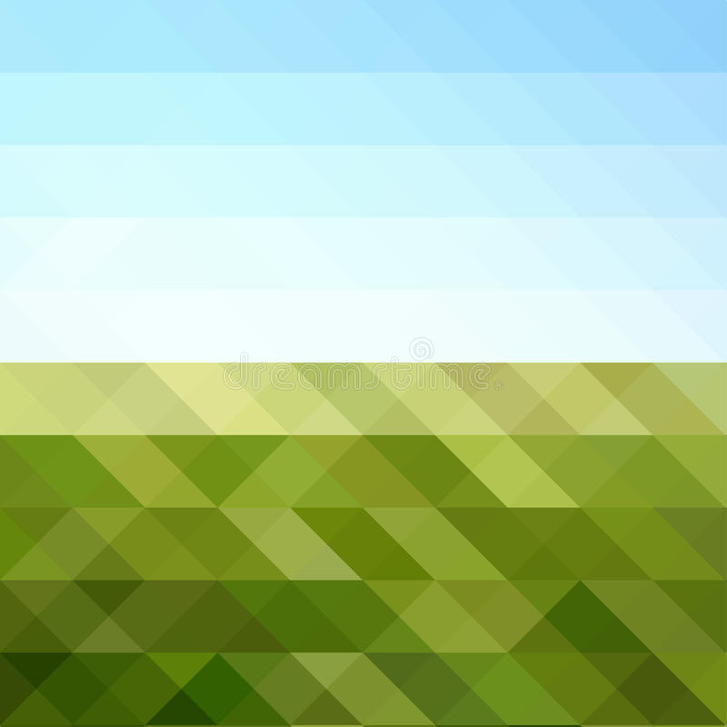Abstract Triangular Mosaic in colors of Sunny Day royalty free illustration