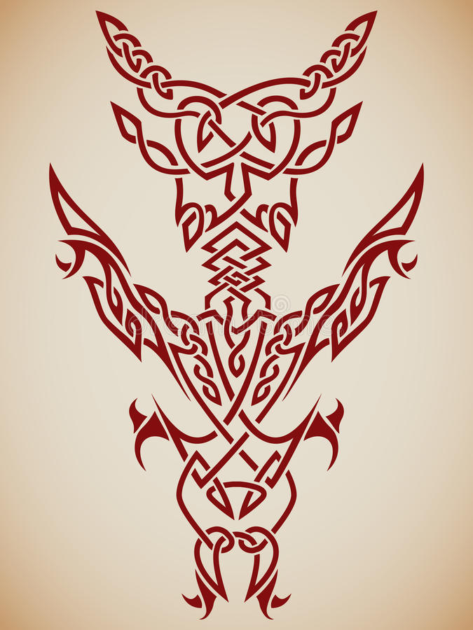 Abstract Tribal Art. Abstract tribal composition for use in tattoos, etc vector illustration