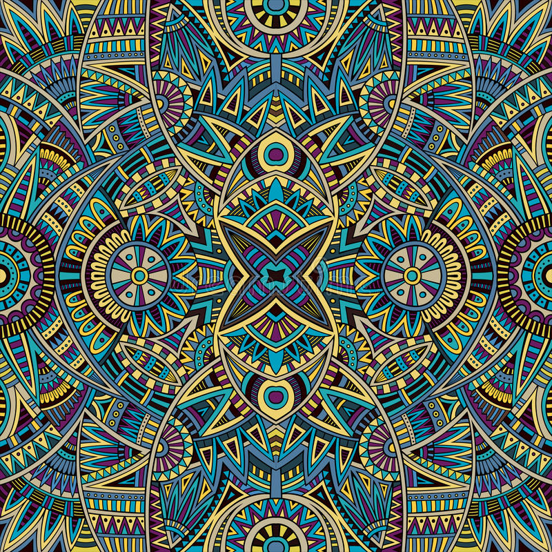 Abstract tribal ethnic seamless pattern royalty free illustration