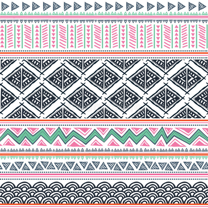 Download Abstract tribal pattern stock vector. Image of fabric - 31052559