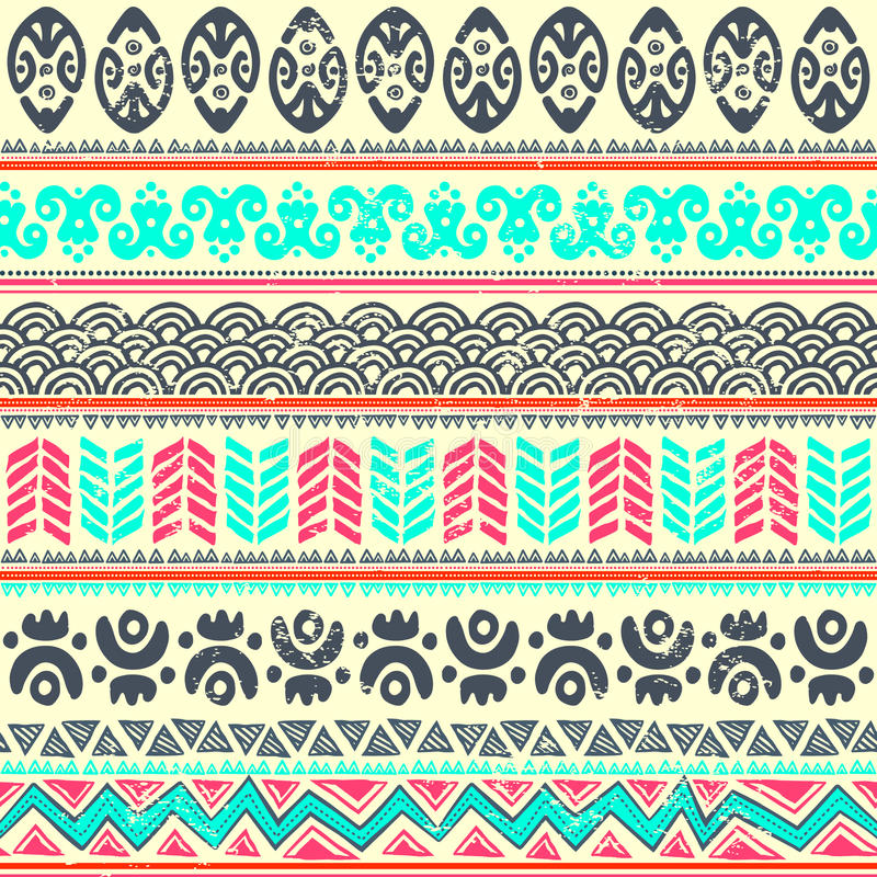 Download Abstract tribal pattern stock vector. Illustration of flower - 31157643