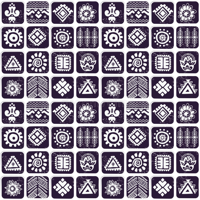 Abstract Tribal Pattern Royalty Free Stock Photo