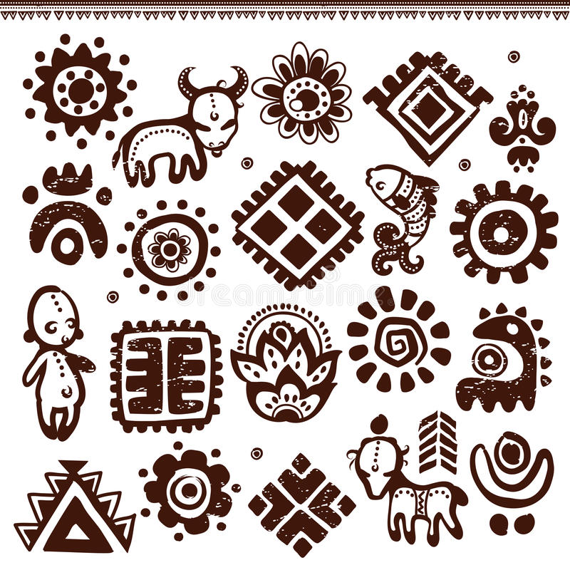 Download Abstract tribal pattern stock vector. Image of design - 32119360