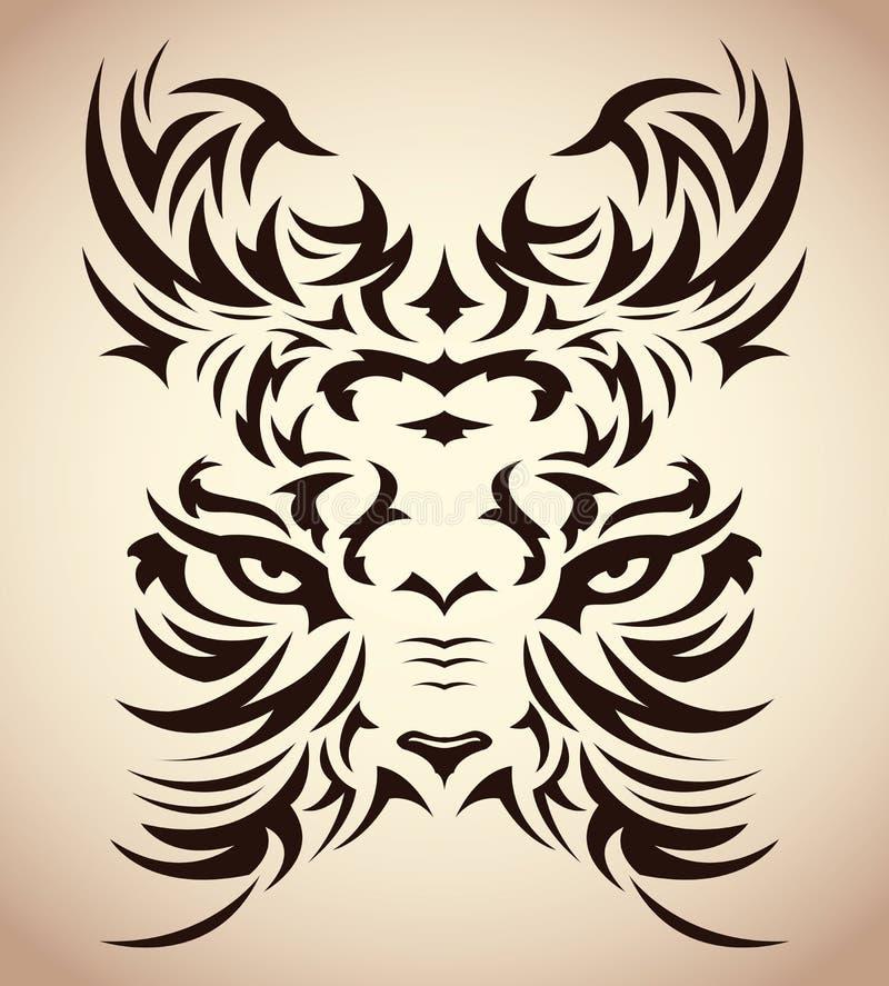Abstract Tribal Tiger Vector