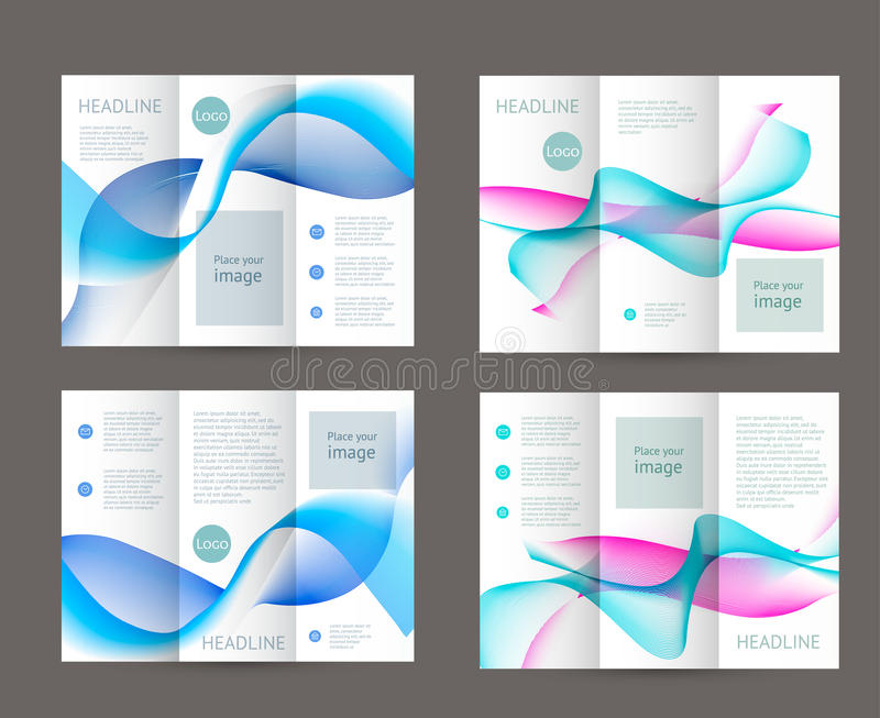 Abstract trifold brochure design vector illustration