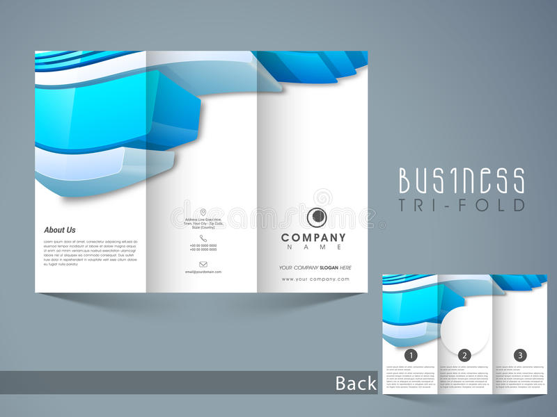 Abstract Trifold Brochure Template Or Flyer Design Stock