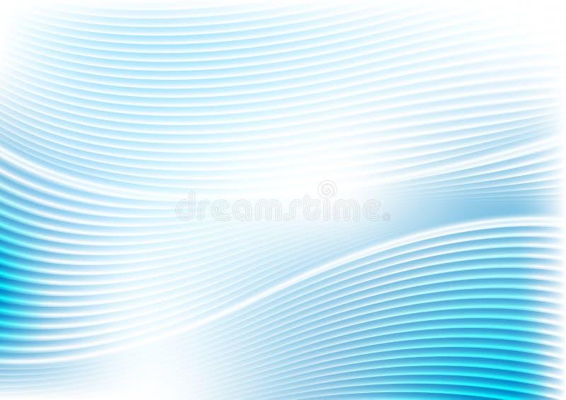 Abstract trillend blauw golven en lijnenpatroon royalty-vrije illustratie