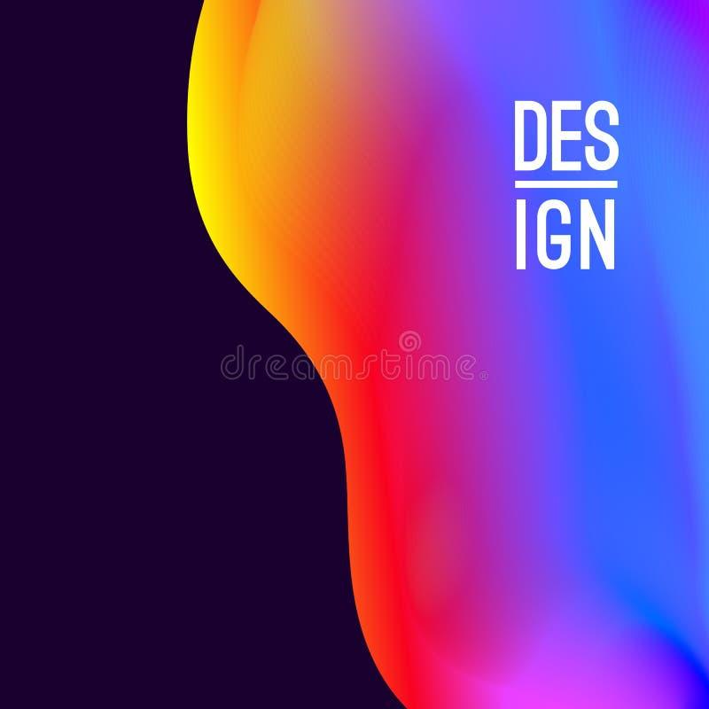 Abstract trillend ontwerp als achtergrond Neonkleuren en heldere kleurrijke plonsen Vector illustratie Eps 10 vector illustratie