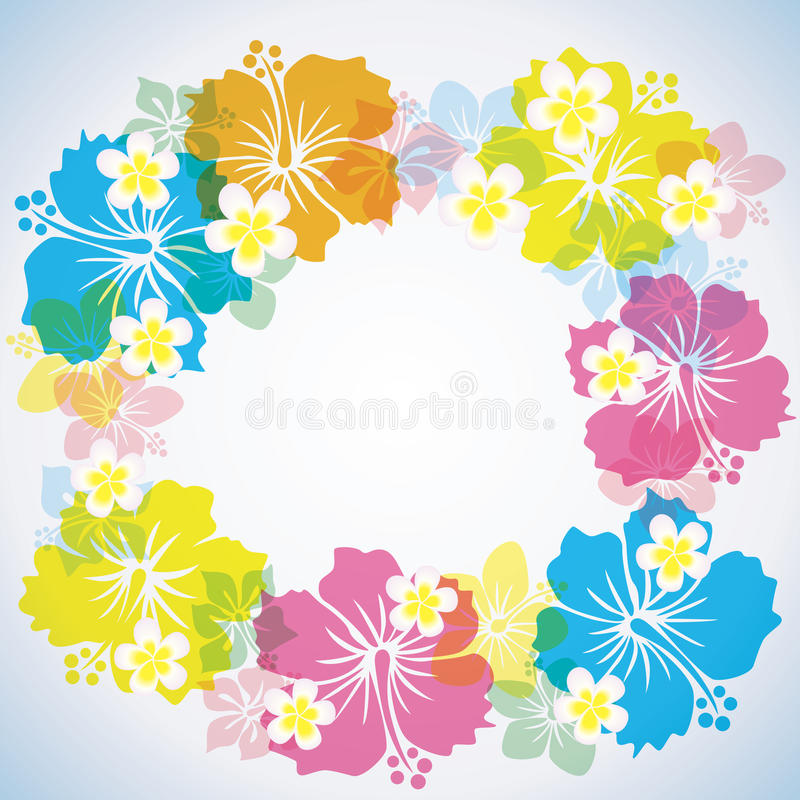 Abstract Tropical background royalty free illustration