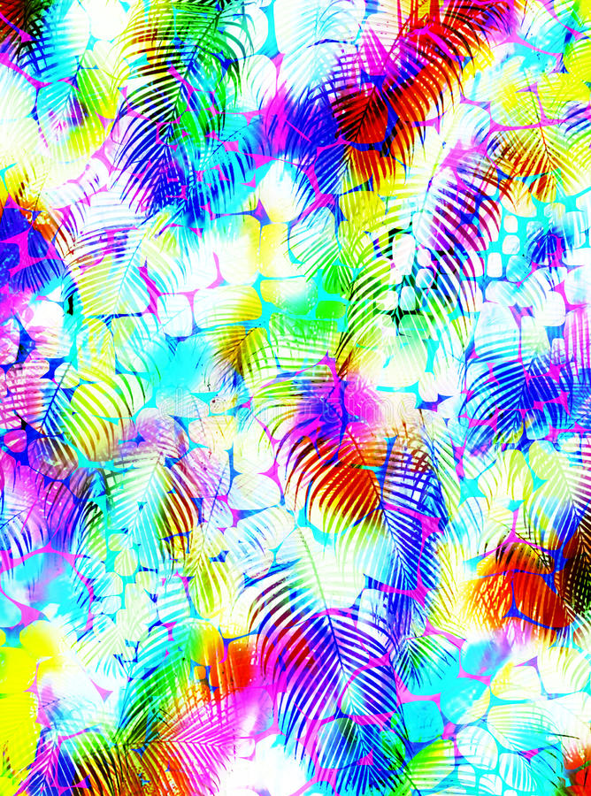 Abstract tropical palm tree animal skin pattern royalty free stock photography
