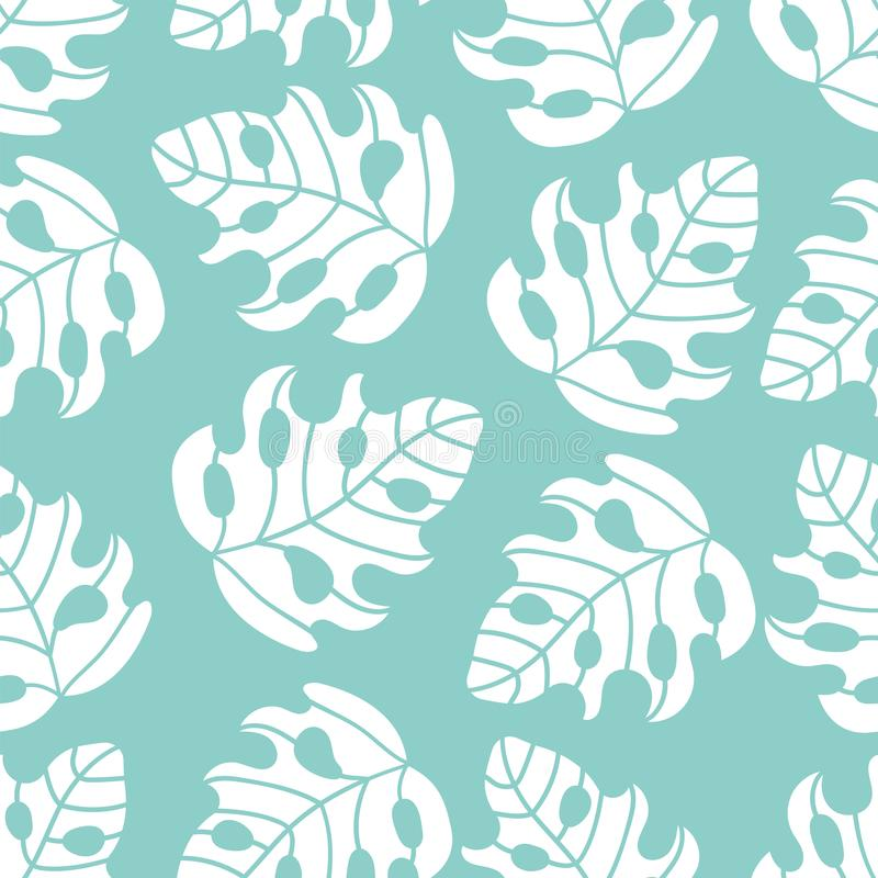 ABSTRACT TROPICS Leaves Seamless Pattern Vector Illustration. ABSTRACT TROPICS Leaves Floral Season Nature Holiday Cartoon Seamless Pattern Vector Illustration vector illustration