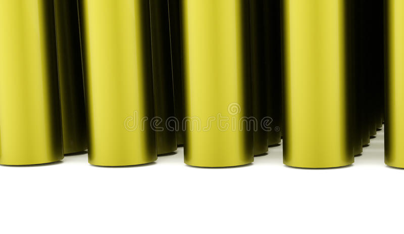 Abstract tube background rendered. Green abstract tube background rendered vector illustration