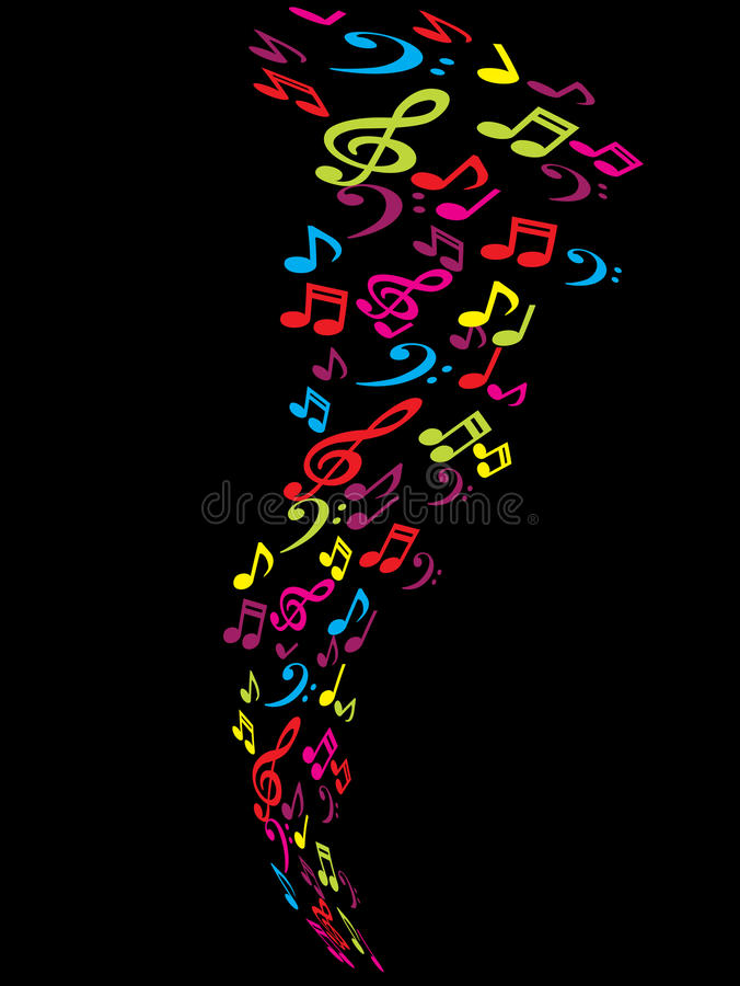 Abstract tunes background. Color concept royalty free illustration