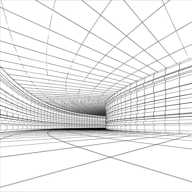 Abstract tunnel vector illustration