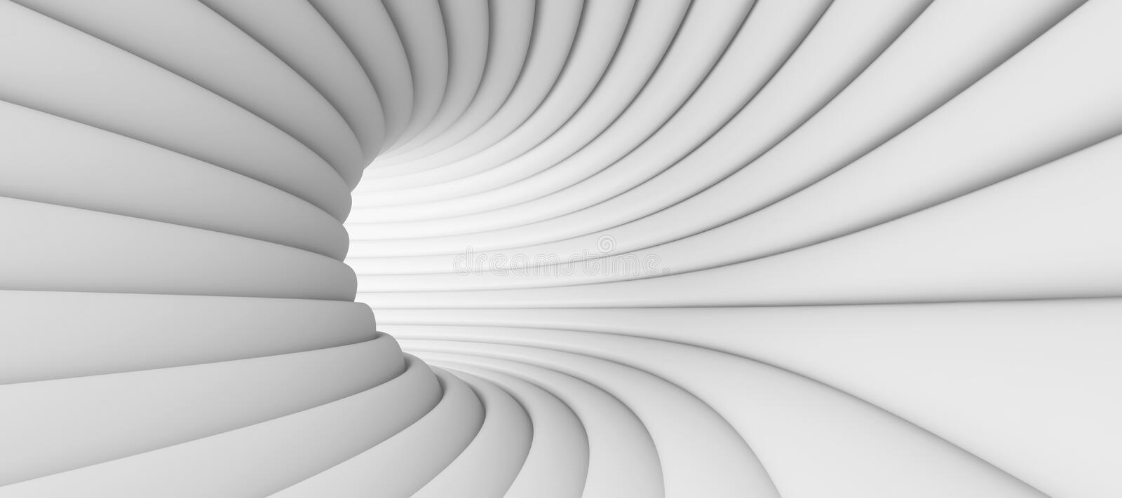 Abstract Tunnel Background royalty free illustration