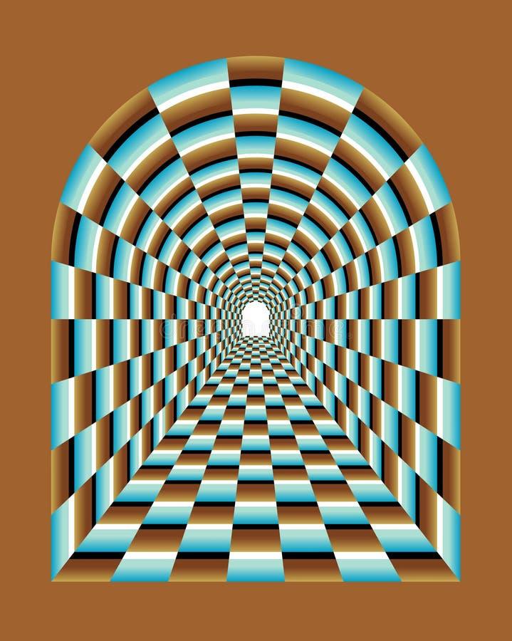 Abstract tunnel Illusion royalty free illustration