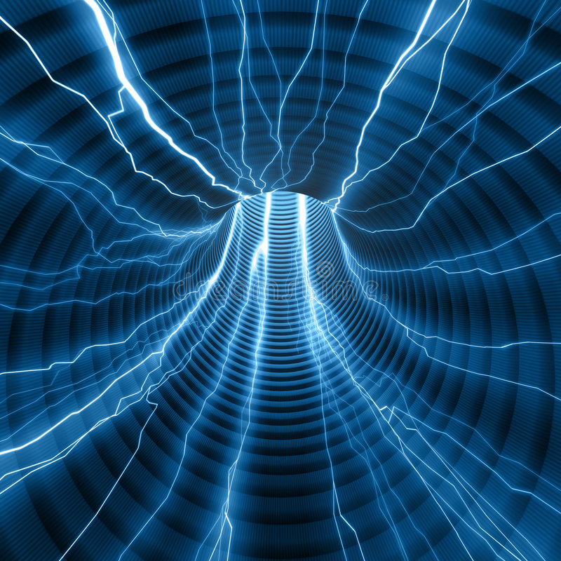 Free Abstract Tunnel Of Energy Stock Image - 4345641