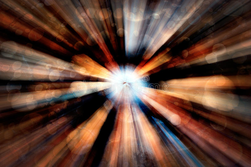 Abstract tunnel. Abstract pattern creating illusion of light in end of tunnel stock images