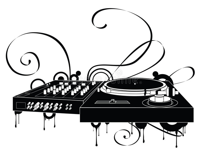 The Abstract Turntable royalty free illustration