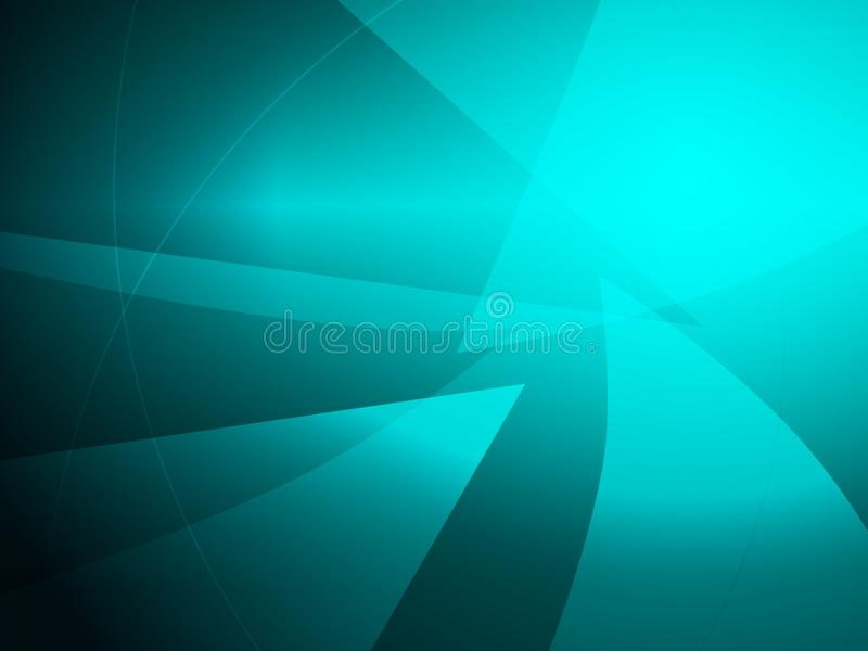 Abstract turquoise geometric shape design background vector illustration