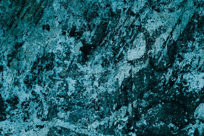 Abstract turquoise pattern of granite slab. Black and blue paint background. Turquoise marble wall texture. Abstract art backgroun stock photography