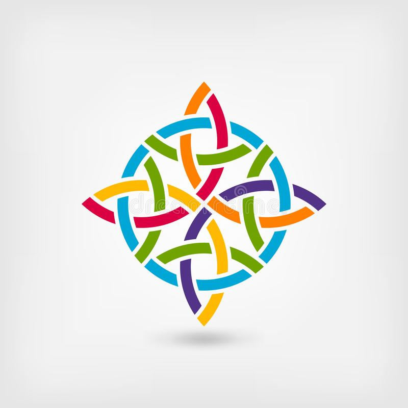 Abstract twisted symbol in rainbow colors royalty free illustration