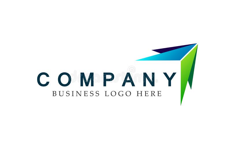 Abstract two arrow directions focused Logo, on Corporate Invest Business Logo design. Financial Investment on white background. In ai10 illustrations for vector illustration