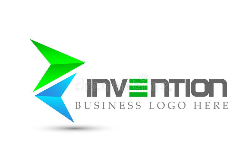 Abstract two arrow directions focused Logo, on Corporate Invest Business Logo design. Financial Investment on white background. In ai 10 illustrations stock illustration