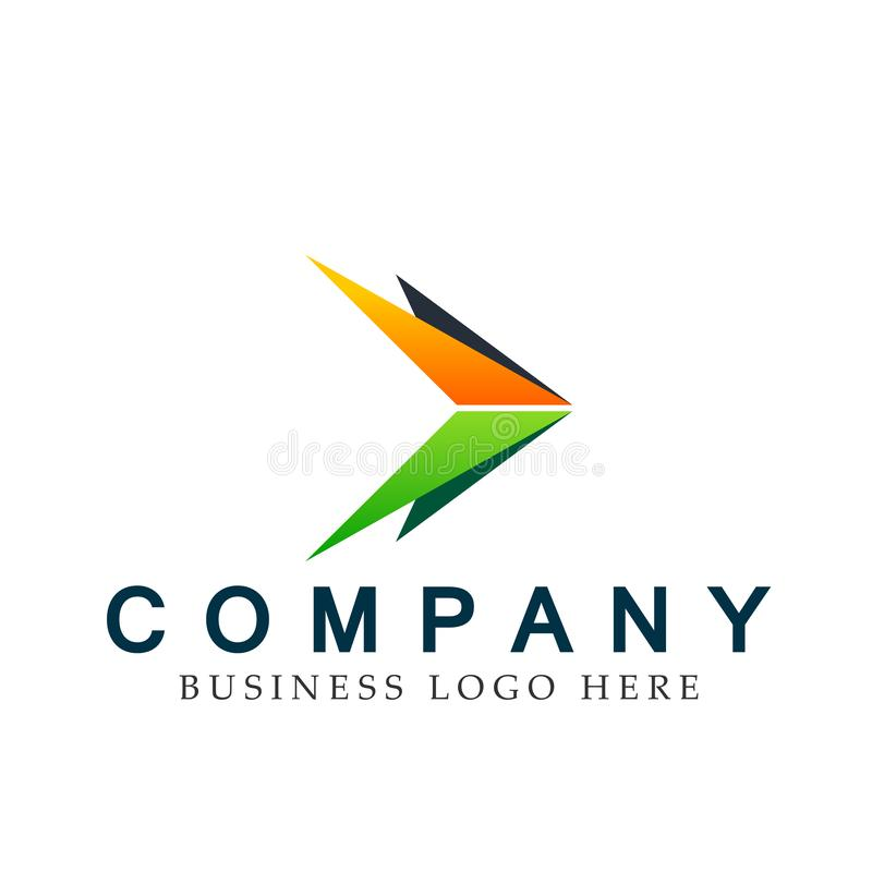 Abstract two arrow directions focused Logo, on Corporate Invest Business Logo design. Financial Investment on white background. In ai10 illustrations for royalty free illustration