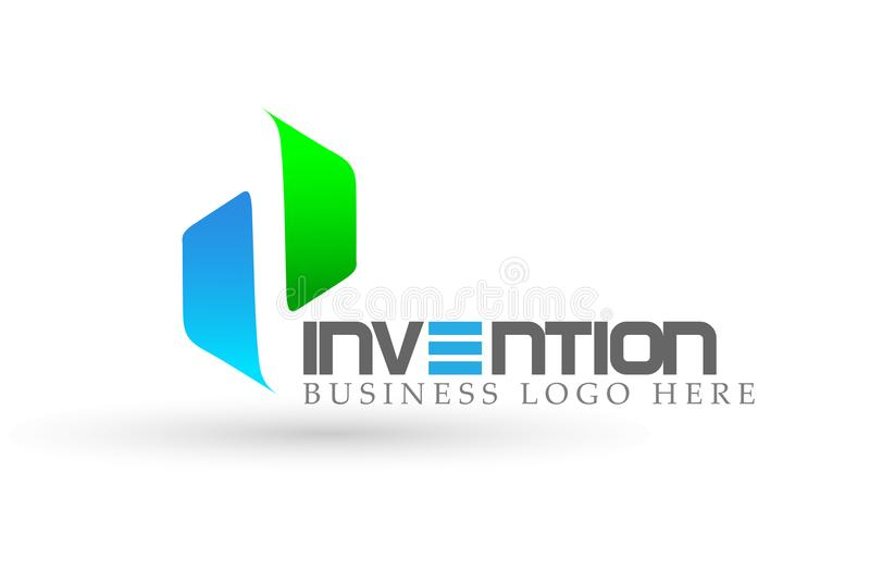 Abstract two directions focused Logo, on Corporate Invest Business Logo design. Financial Investment on white background royalty free illustration