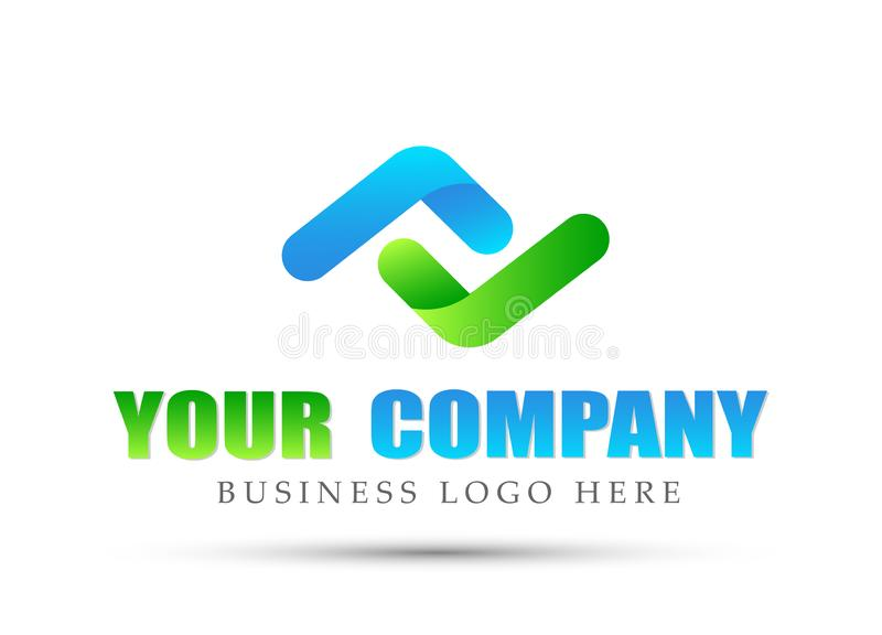 Abstract two directions focused Logo, success on Corporate Invest Business Logo design. Financial Investment logo. On white Background in ai10 illustrations vector illustration