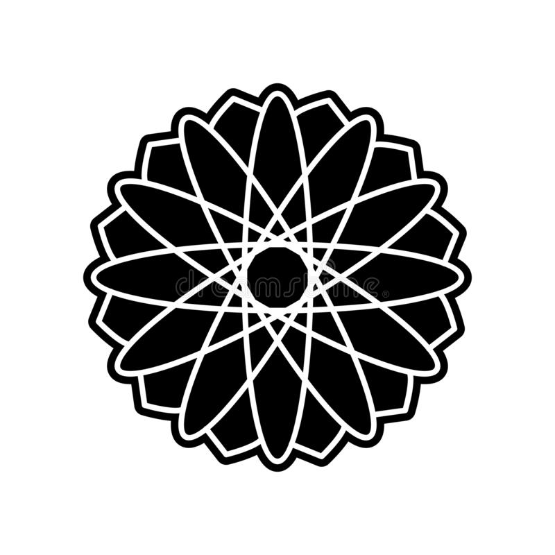 abstract type of chrysanthemum flowers icon. Element of Flower for mobile concept and web apps icon. Glyph, flat icon for website stock illustration